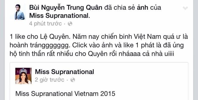 Sao Việt đồng loạt kêu gọi bình chọn cho Lệ Quyên - ảnh 6