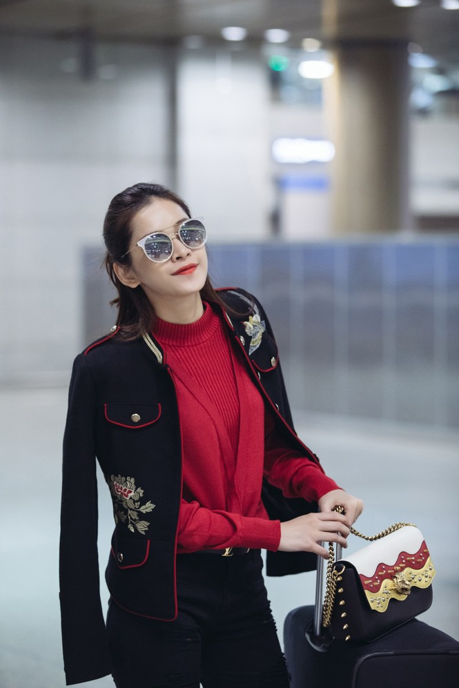 Chi Pu mặc sành điệu đến Hàn Quốc dự sự kiện - ảnh 3