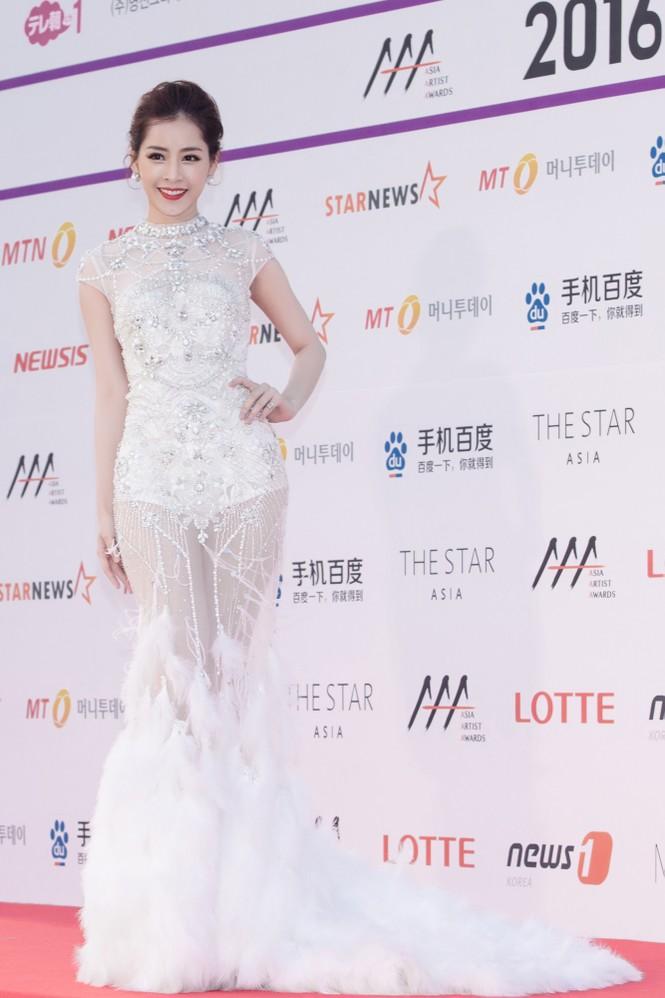 Chi Pu quyến rũ trên thảm đỏ Hàn Quốc, bất ngờ thắng giải 'Ngôi sao mới' - ảnh 5