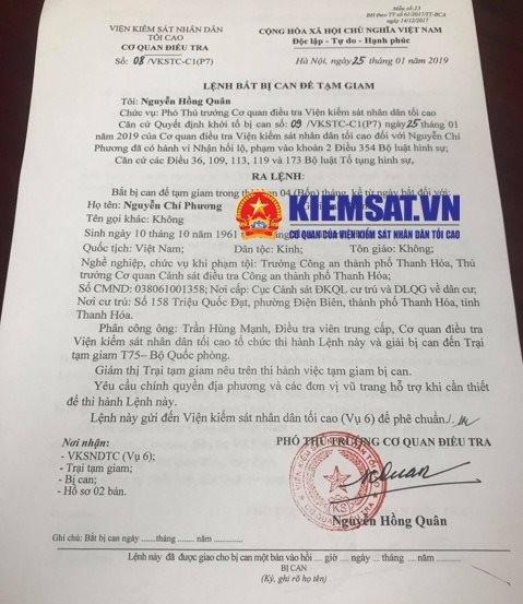Vì sao cựu Trưởng Công an thành phố Thanh Hóa chưa bị bắt? - ảnh 1