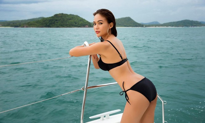 Á hậu Mâu Thuỷ 'đốt mắt' fans với loạt ảnh khoe đường cong hoàn hảo cùng bikini - ảnh 7