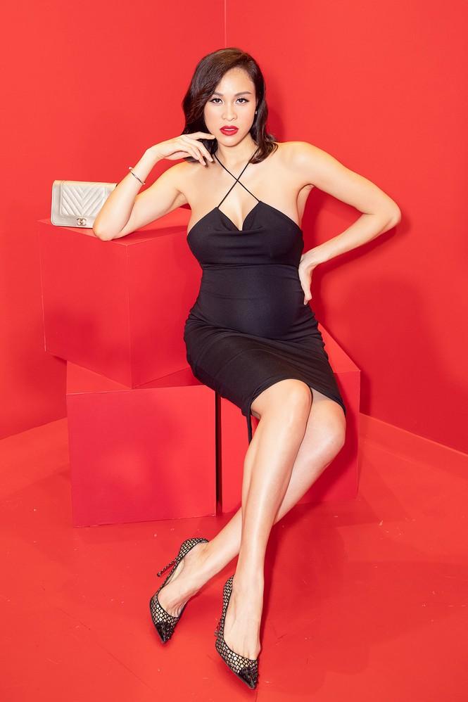 Bụng bầu 7 tháng, Phương Mai vẫn mặc váy bó sát nóng bỏng đi sự kiện - ảnh 8