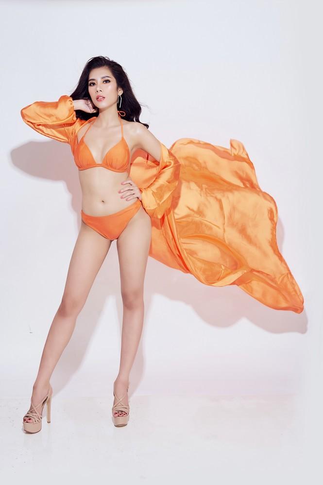 Đại diện Việt Nam tại Hoa hậu Du lịch thế giới 2019 nóng 'bỏng mắt' với bikini - ảnh 7