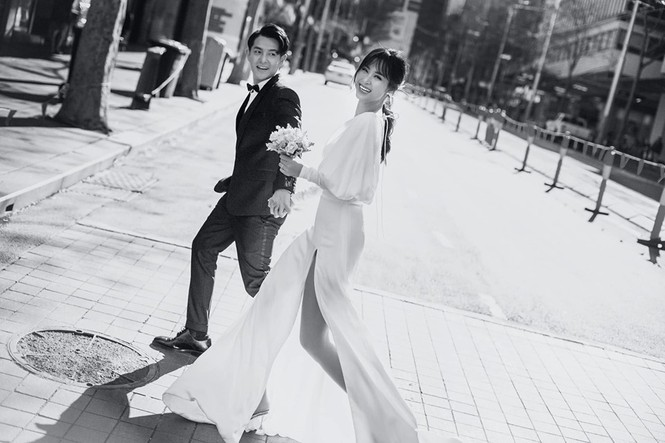 Đông Nhi - Ông Cao Thắng tung ảnh cưới đen trắng đẹp như mơ ở Sydney - ảnh 5