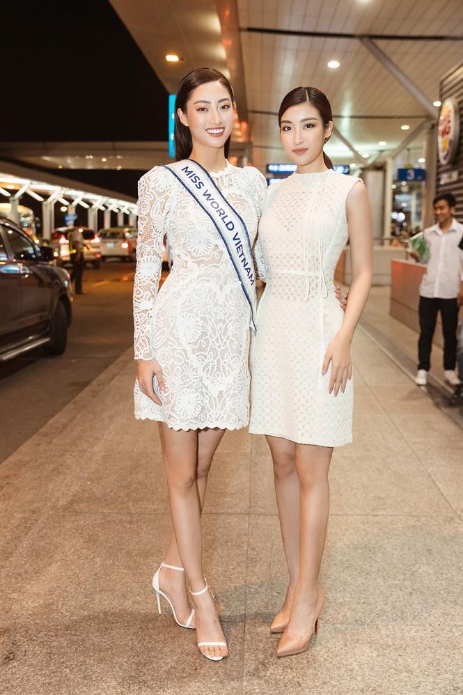 Lương Thuỳ Linh và dàn Hoa hậu đính đám làm 'náo loạn' sân bay lúc nửa đêm - ảnh 5