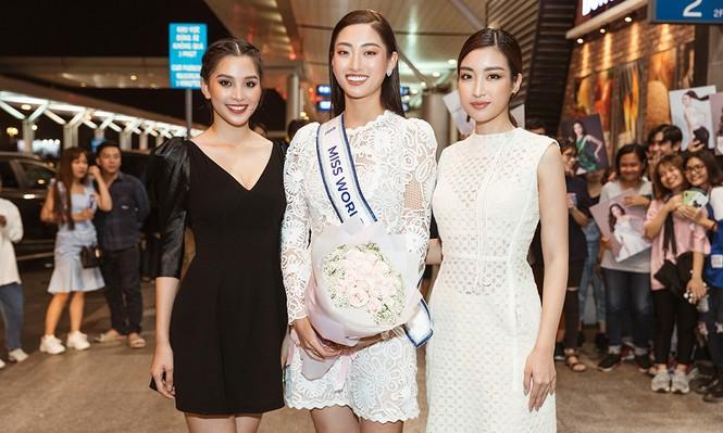 Lương Thuỳ Linh và dàn Hoa hậu đính đám làm 'náo loạn' sân bay lúc nửa đêm - ảnh 7