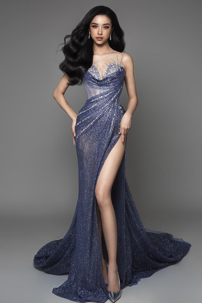 Á hậu Thuý An hé lộ váy dạ hội nóng bỏng trong chung kết Hoa hậu Liên lục địa - ảnh 7