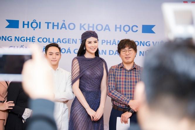 Hoa hậu Ngọc Hân mặc váy xuyên thấu gợi cảm sau khi rò rỉ ảnh dạm ngõ  - ảnh 11