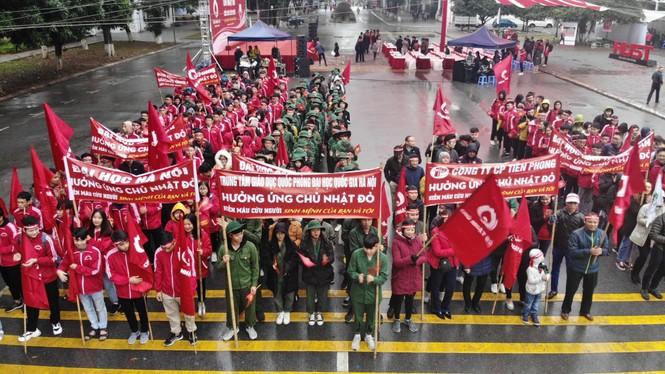 Hàng ngàn sinh viên Thủ đô tham gia hiến máu tại Chủ nhật Đỏ - ảnh 1