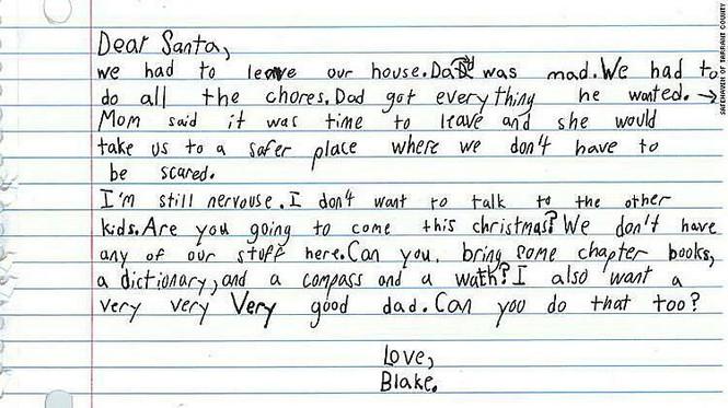 Cậu bé viết thư xin ông già Noel 'một ông bố tốt' - ảnh 1
