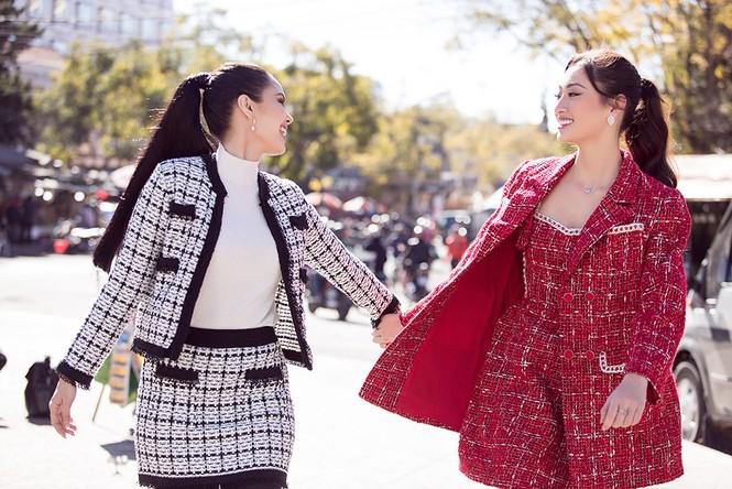 Lương Thuỳ Linh đọ nhan sắc 'một chín, một mười' với Megan Young ở Đà Lạt - ảnh 3