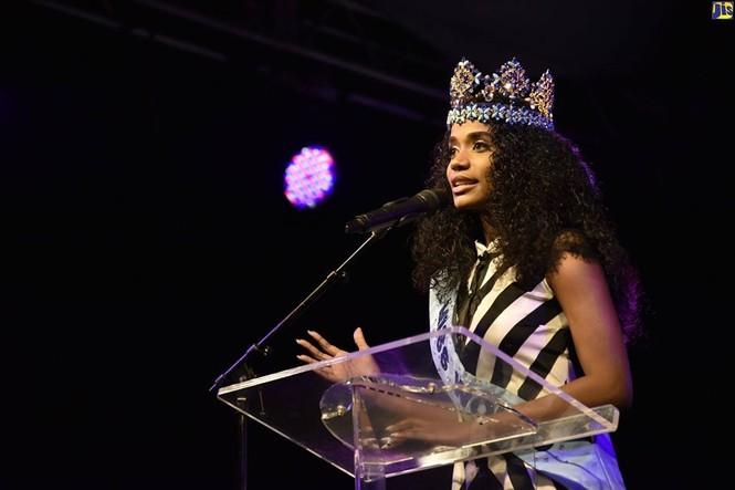 Hoa hậu thế giới được thủ tướng Jamaica chào đón khi về thăm quê nhà  - ảnh 9
