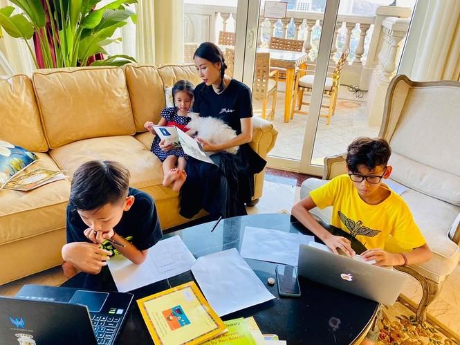 Hà Kiều Anh cùng gia đình cách ly xã hội tại biệt thự sát biển ở Vũng Tàu - ảnh 4