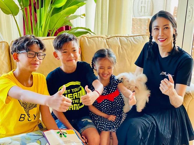 Hà Kiều Anh cùng gia đình cách ly xã hội tại biệt thự sát biển ở Vũng Tàu - ảnh 1