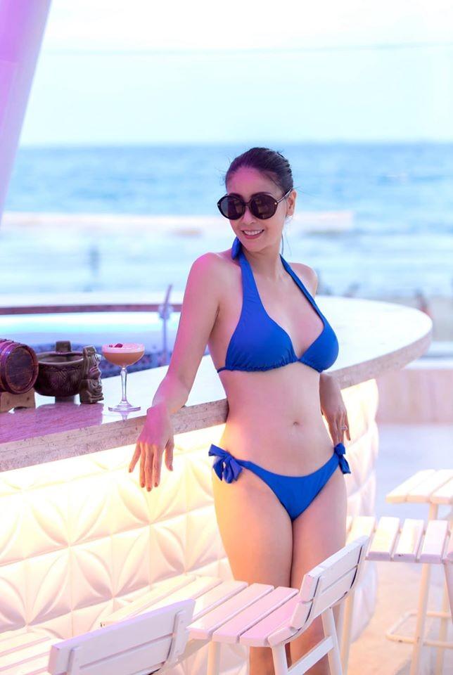Hà Kiều Anh khoe body tuyệt mỹ tuổi 44 với bikini  - ảnh 10