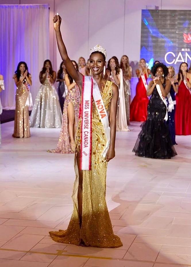 Cô gái cao 1m83 lên ngôi Hoa hậu Hoàn vũ Canada 2020 - ảnh 1