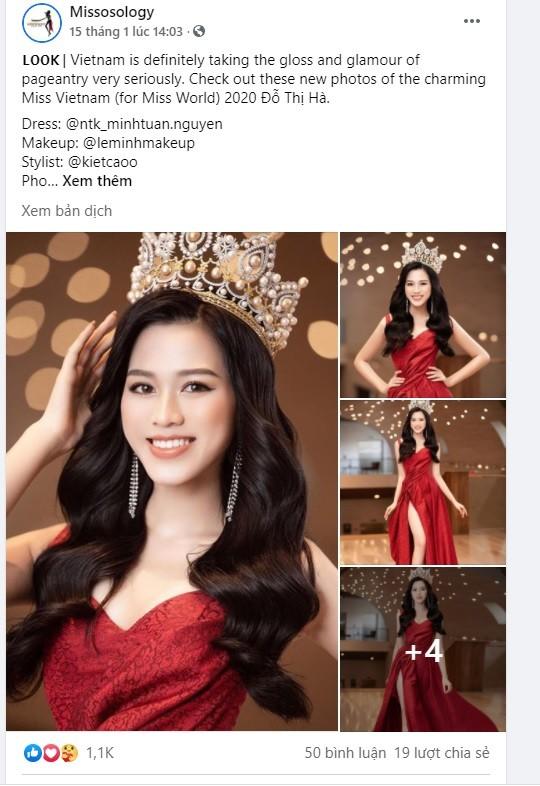 Fans quốc tế nói gì về nhan sắc của Hoa hậu Đỗ Thị Hà sau 2 tháng đăng quang? - ảnh 1