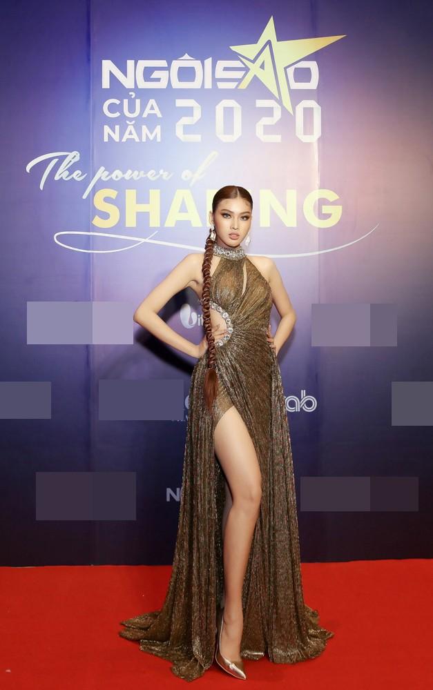 Hoa hậu Đỗ Thị Hà lộng lẫy tựa 'nữ thần', Á hậu Ngọc Thảo diện váy xẻ khoe chân dài 1m11 - ảnh 3