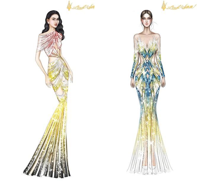 Lộ diện váy dạ hội lộng lẫy mang thông điệp hòa bình của Ngọc Thảo tại Miss Grand 2021 - ảnh 5