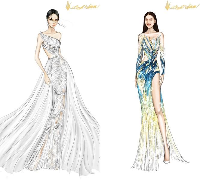 Lộ diện váy dạ hội lộng lẫy mang thông điệp hòa bình của Ngọc Thảo tại Miss Grand 2021 - ảnh 6