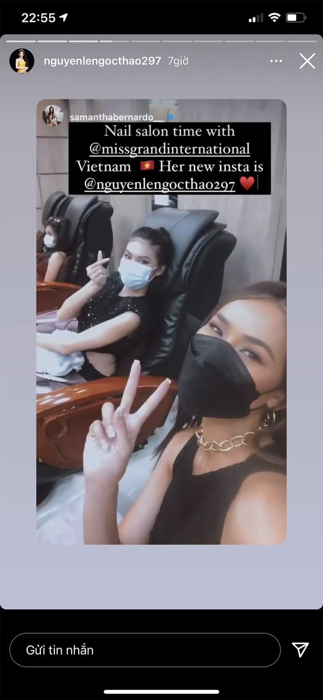 Vừa hết cách ly, Ngọc Thảo 'lên đồ' cực sang chảnh đi làm nail cùng Hoa hậu Philippines - ảnh 3