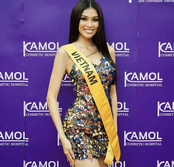 Ngọc Thảo mặc màu vàng 'phong thuỷ' cực lộng lẫy bước vào vòng phỏng vấn ở Miss Grand  - ảnh 10