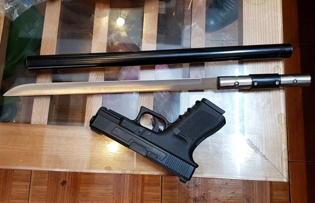 Bắt 2 tội phạm truy nã thòi ra 'kho' vũ khí, ma túy - ảnh 3