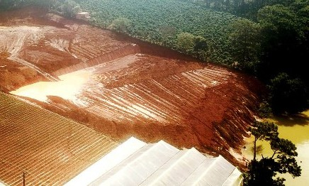 San bạt núi đồi đe dọa hồ cấp nước sinh hoạt của TP Đà Lạt - ảnh 1