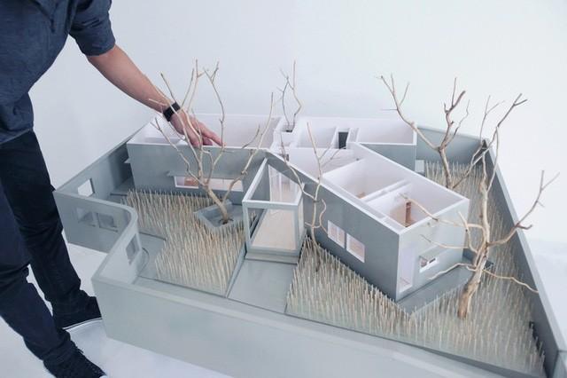 Gia chủ Nghệ An xây nhà hình chữ Y vì vướng cây - ảnh 12