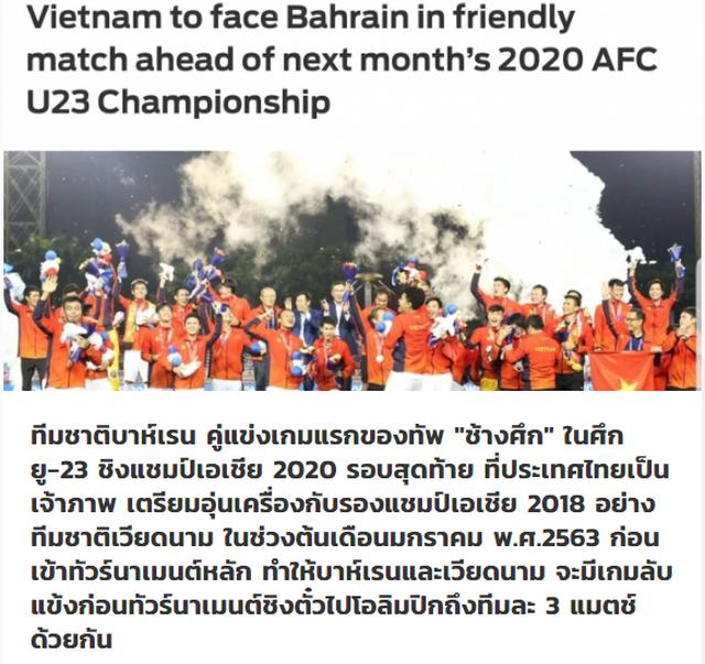 Báo Thái Lan ngầm cảm ơn U23 Việt Nam trước giải U23 châu Á - ảnh 1