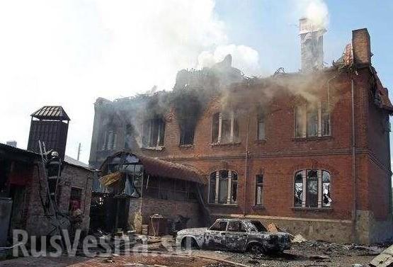 Sloviansk tan hoang sau cuộc pháo kích của quân đội Ukraine - ảnh 1