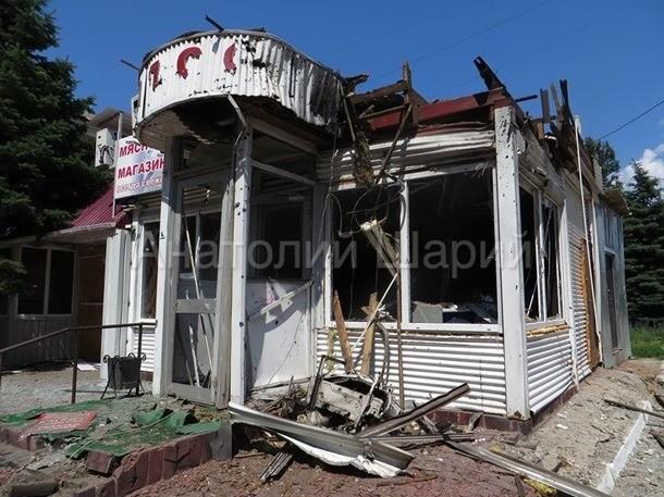 Sloviansk tan hoang sau cuộc pháo kích của quân đội Ukraine - ảnh 8