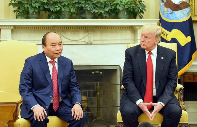 Hình ảnh Tổng thống Hoa Kỳ Donald Trump đón Thủ tướng Nguyễn Xuân Phúc - ảnh 3