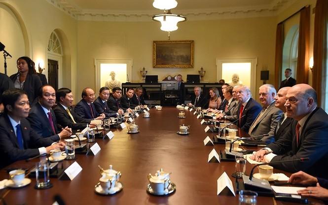 Hình ảnh Tổng thống Hoa Kỳ Donald Trump đón Thủ tướng Nguyễn Xuân Phúc - ảnh 5