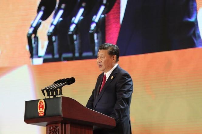 Lễ đón trọng thể Chủ tịch Trung Quốc Tập Cận Bình - ảnh 4