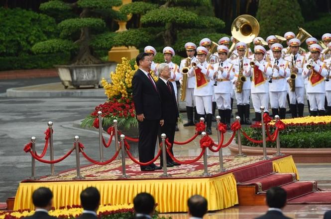 Lễ đón trọng thể Chủ tịch Trung Quốc Tập Cận Bình - ảnh 5