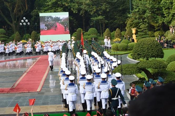 Lễ đón trọng thể Chủ tịch Trung Quốc Tập Cận Bình - ảnh 12