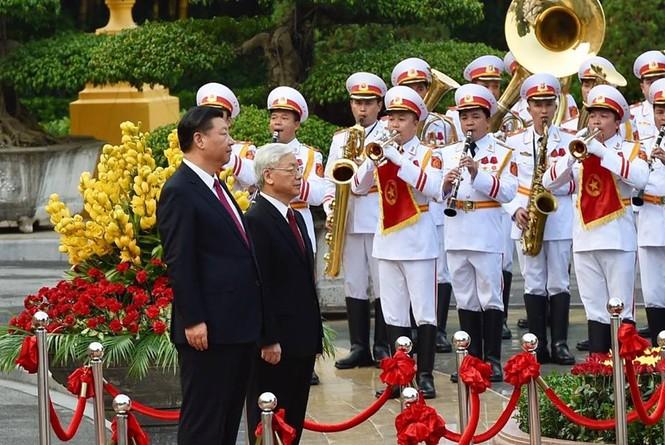 Lễ đón trọng thể Chủ tịch Trung Quốc Tập Cận Bình - ảnh 6
