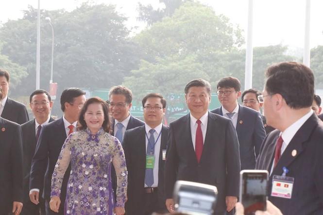 Lễ đón trọng thể Chủ tịch Trung Quốc Tập Cận Bình - ảnh 21