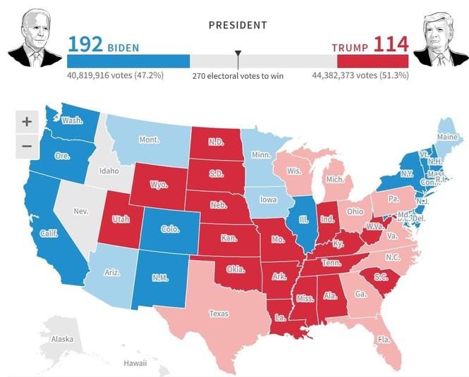 Mỹ sắp có cuộc bầu cử nhiều người bỏ phiếu nhất trong một thế kỉ - ảnh 16