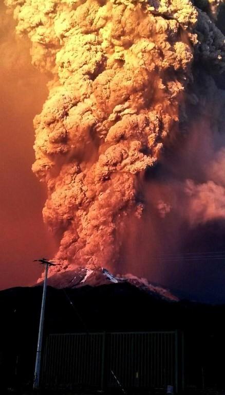 [ẢNH] Thời khắc núi lửa phun trào kinh hoàng ở Chile - ảnh 2