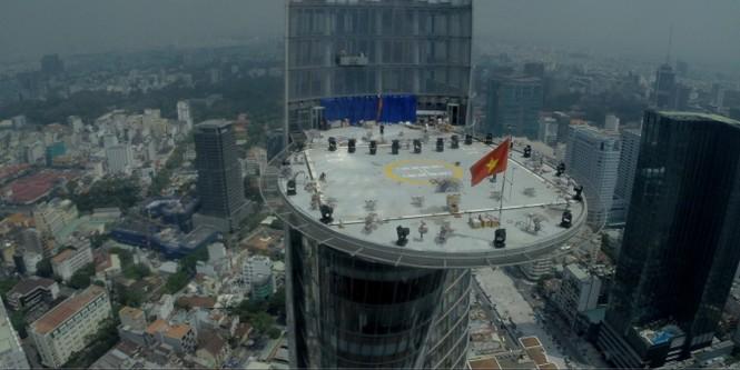 Mục kích 'trận địa' pháo hoa ở tòa nhà cao nhất TP.HCM - ảnh 4