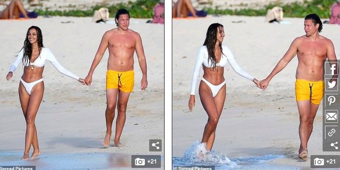 Bạn trai cũ Amber Heard tình tứ ôm hôn bạn gái mới trên biển - ảnh 4