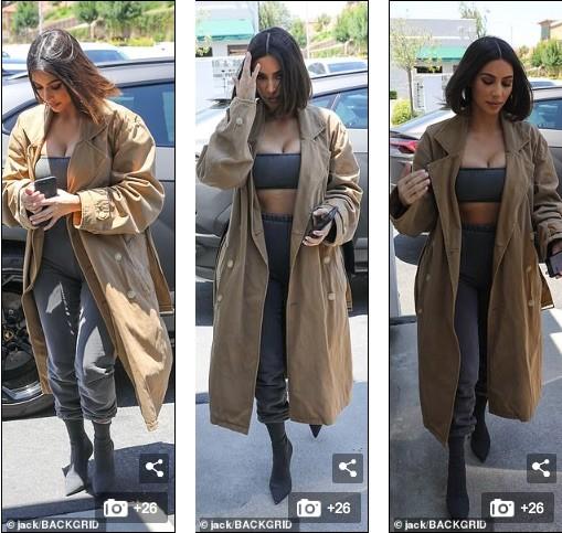 Kim Kardashian mặc crop top bó sát khoe ngực đầy siêu gợi cảm - ảnh 3