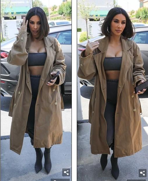 Kim Kardashian mặc crop top bó sát khoe ngực đầy siêu gợi cảm - ảnh 4