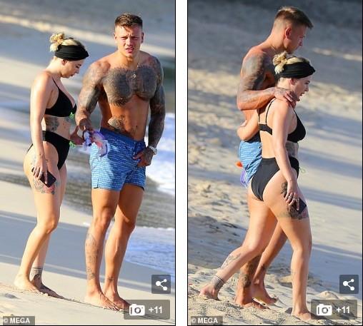 Olivia Buckland nóng bỏng, liên tục tình tứ với chồng ở bãi biển - ảnh 7