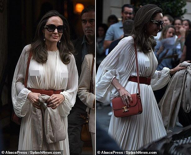 Angelina Jolie lại 'thả rông' vòng 1 trên phố - ảnh 5