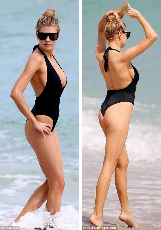 Chân dài 9x Charlotte McKinney quyến rũ mê đắm trên biển - ảnh 7