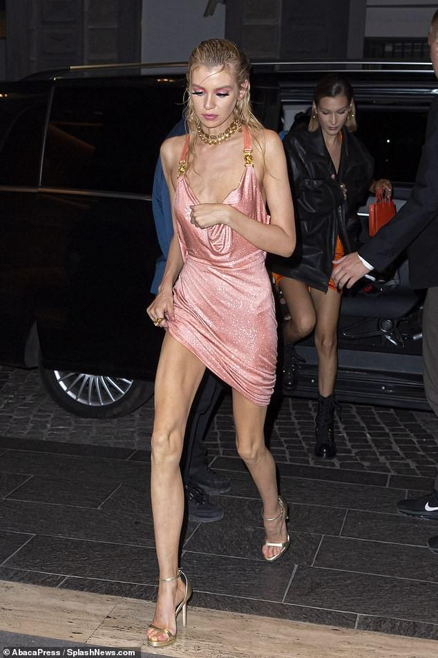 Xấu hổ với chiếc váy rộng cổ, phản cảm hết nấc của Stella Maxwell  - ảnh 1