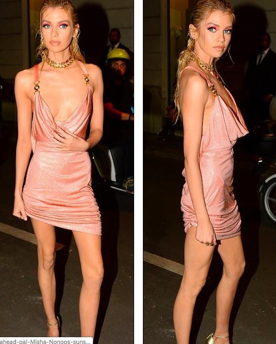 Xấu hổ với chiếc váy rộng cổ, phản cảm hết nấc của Stella Maxwell  - ảnh 5